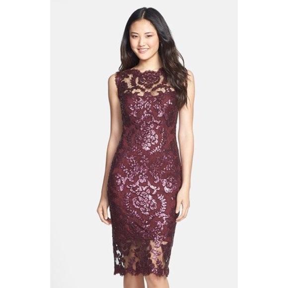 3b44f0c6b5bd Tadashi Shoji Dresses   Sequin Illusion Lace Dress   Poshmark